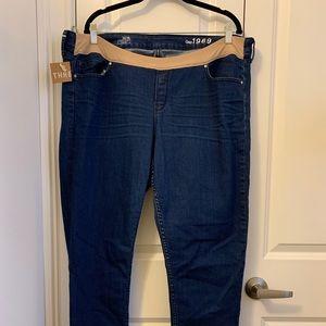 Gap size 18 maternity skinny jeans
